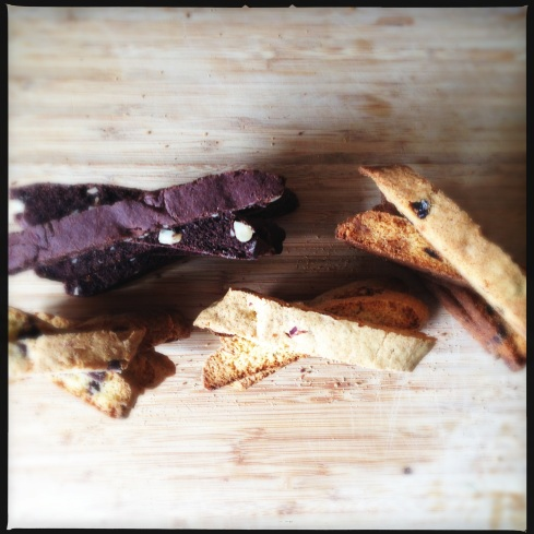 Four different types of biscotti (my biscotti baking craze) and all delicious.