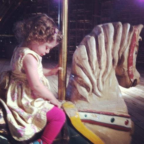 A Carousel Horse in Tucker's Grandpa's Barn