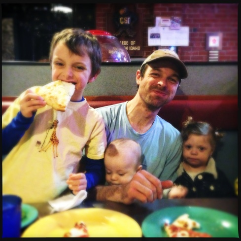 Pizza dinner with the Family for Molly's birthday